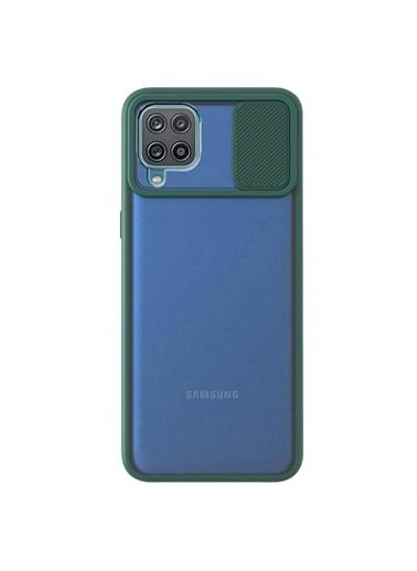 Microsonic Samsung Galaxy A12 Kılıf Slide Camera Lens Protection Kırmızı Yeşil